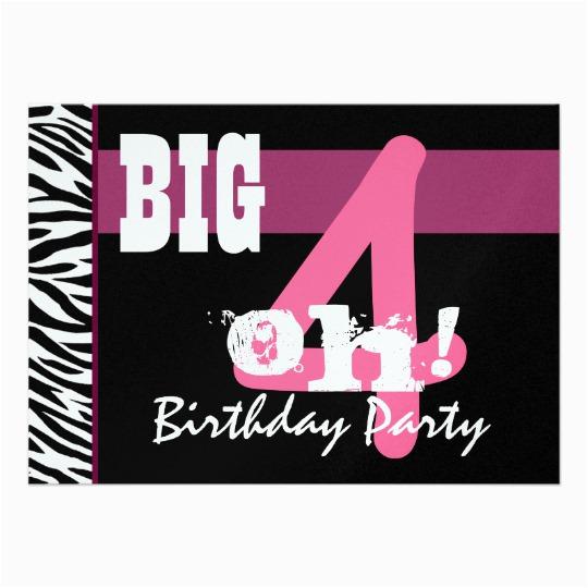 Giant 40th Birthday Card Party Big 4 Oh Pink Zebra Metallic