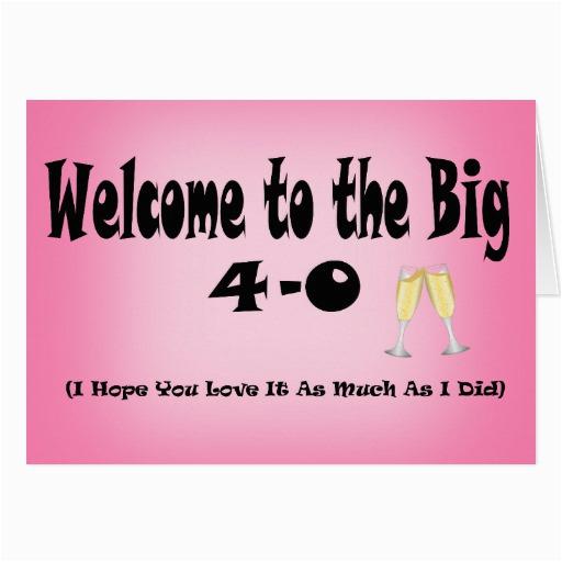 big 40th birthday cards