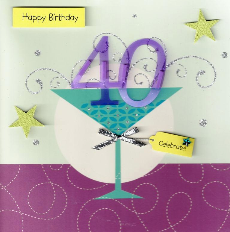 40th Birthday Card 320763433041