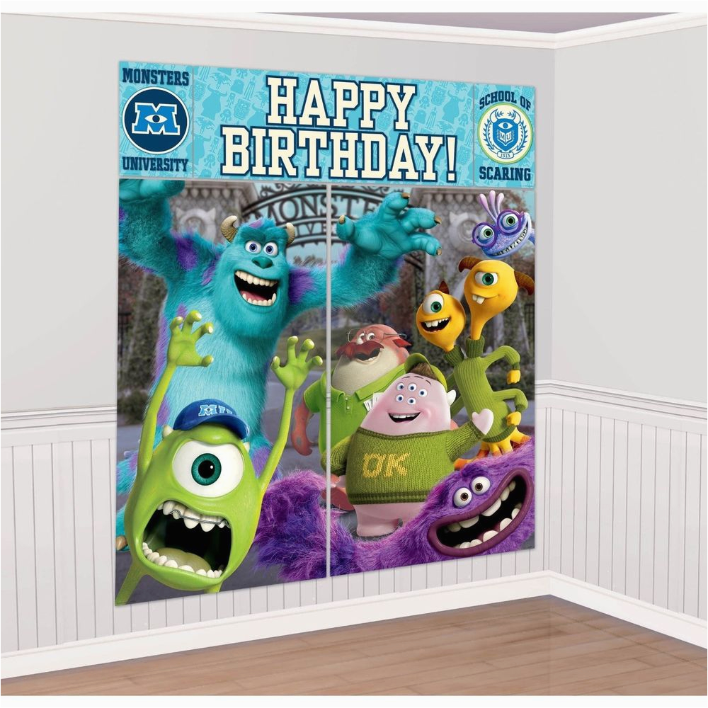 Giant Birthday Cards Walmart Monsters University Scene Setter Happy Party Wall