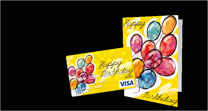 birthday gift cards customize a visa gift card