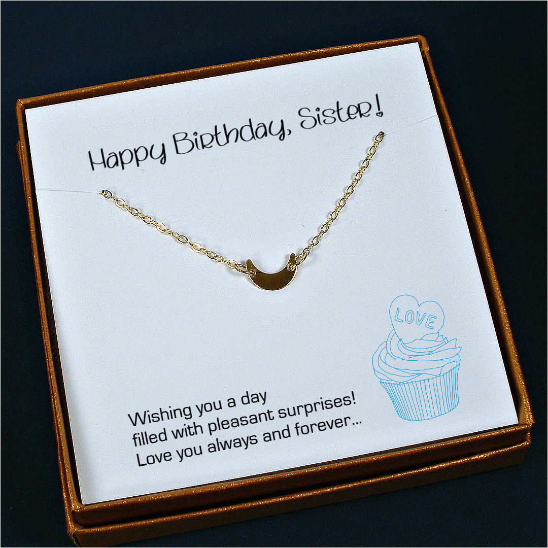 sister birthday gift sister necklace sister gift ideas