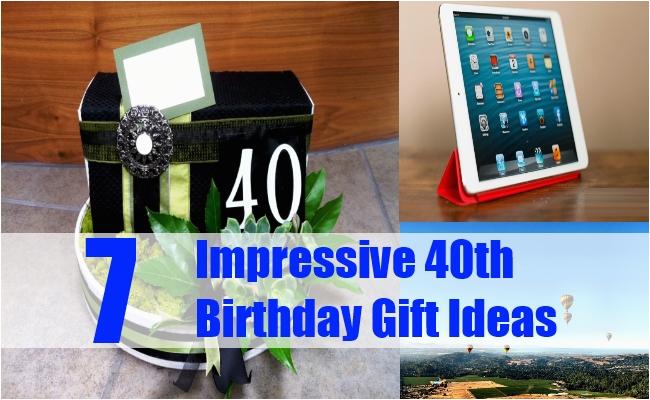 40th Birthday Ideas Gift Her