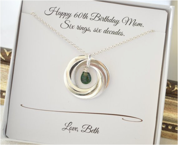 Gifts For Mom On Her 60th Birthday Gift May Necklace Emerald Birthstone