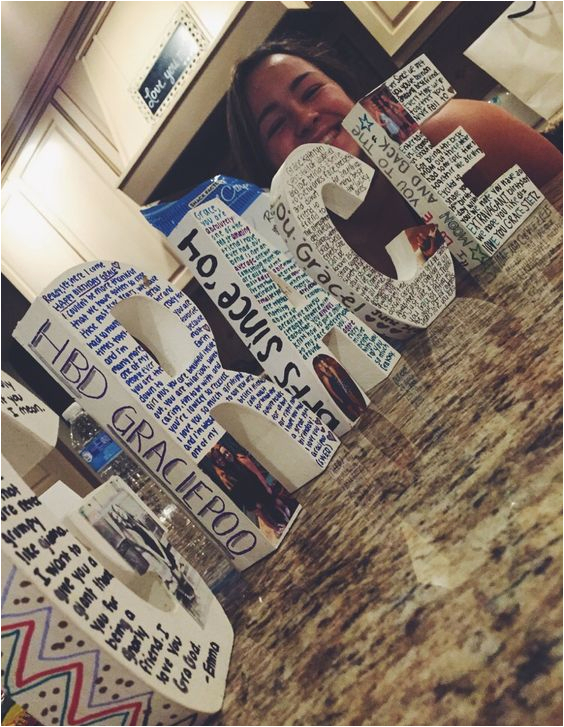 best friend birthday friend birthday and large letters on