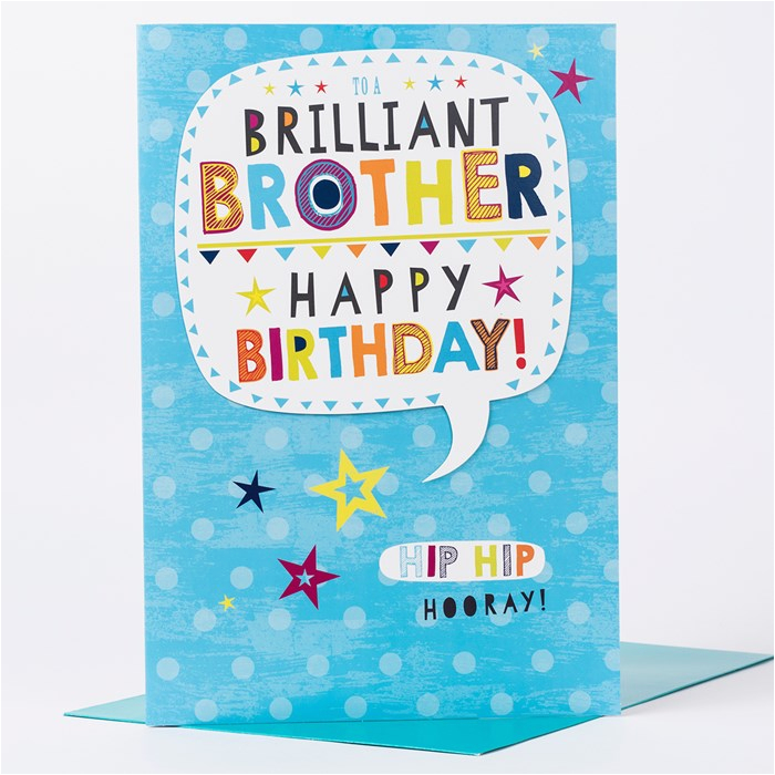 giant birthday card brilliant brother