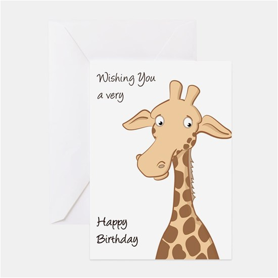 Giraffe Birthday Card Sayings Happy Birthday Giraffe Birthday T Giraffe and Happy
