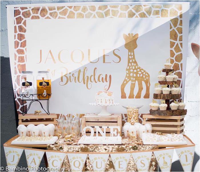 sophie the giraffe 1st birthday party