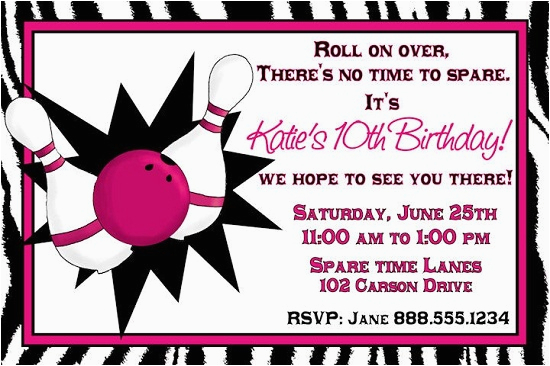 Girl Bowling Birthday Party Invitations Ideas Bagvania Free