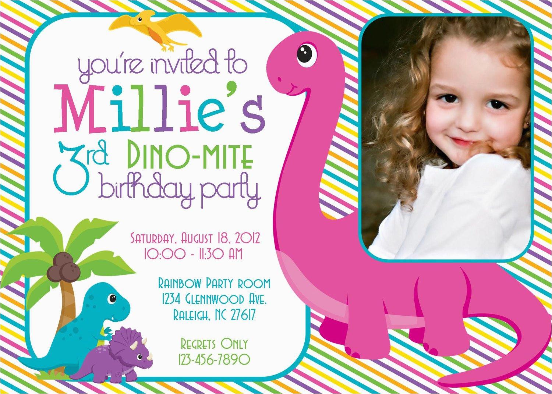 dino mite dinosaur birthday party 5x7