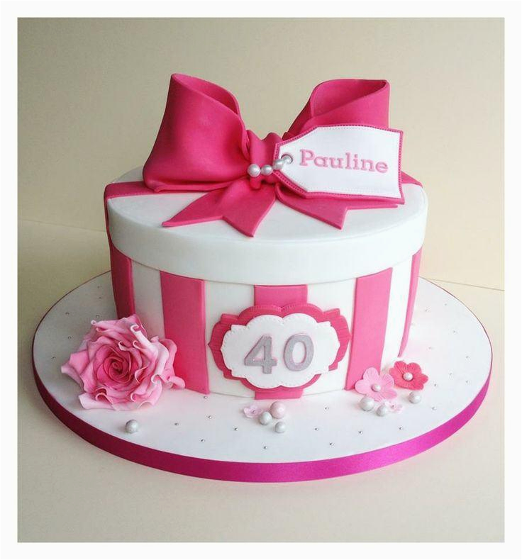 Girls 40th Birthday Ideas Cakes For A Cake