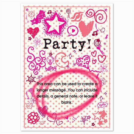 Girly Birthday Invitation Templates Party Invitations Cards On Pingg Com