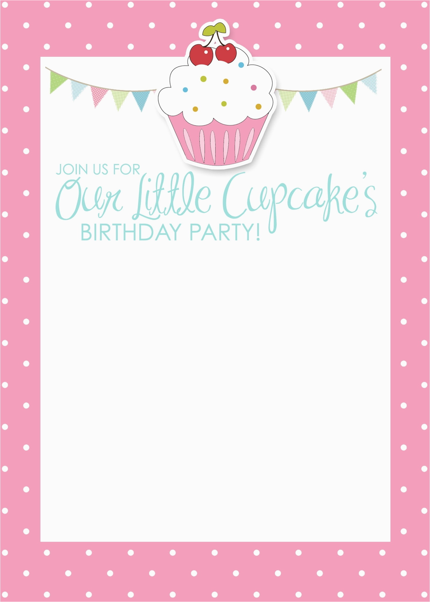 Free Printable Birthday Invitations For Girls Template