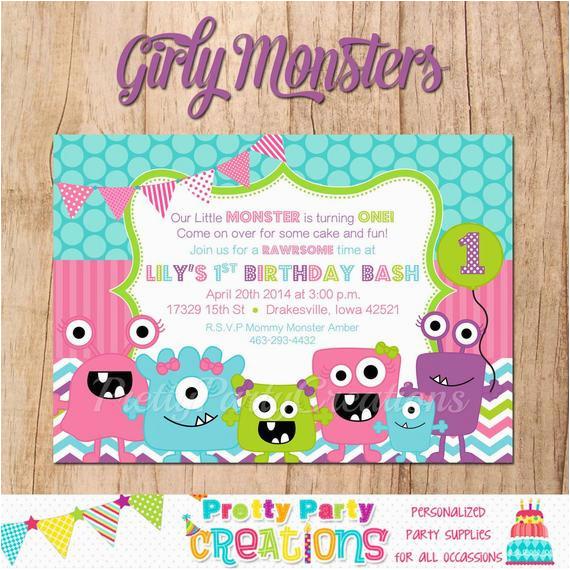 Girly Birthday Invitations Free Printable Girly Monsters Birthday Invitation You Print by Pretty