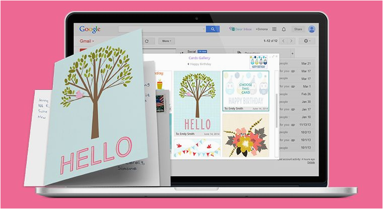 greeting card inbox extensions gmail plugin