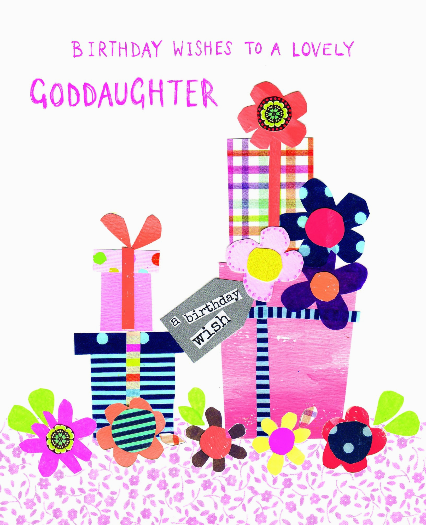Goddaughter First Birthday Card A Goddaughter Birthday Card Goddaughter Relations