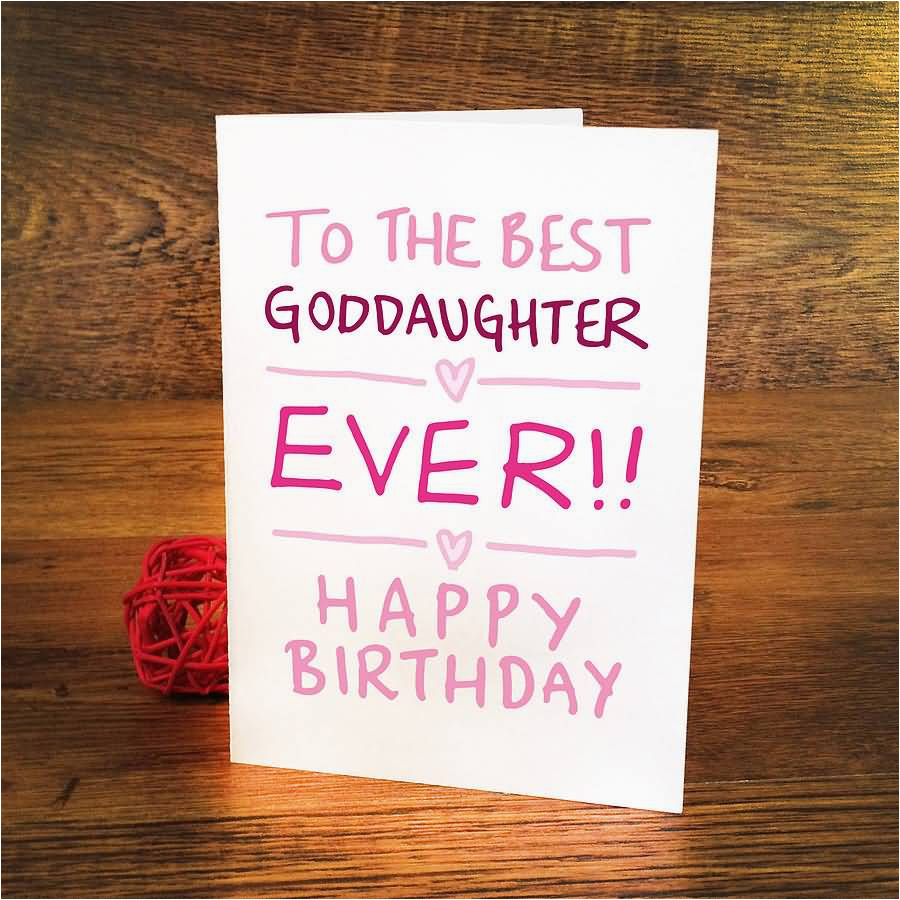 Goddaughter First Birthday Card Birthday Wishes for God Daughter Happy Birthday Quotes