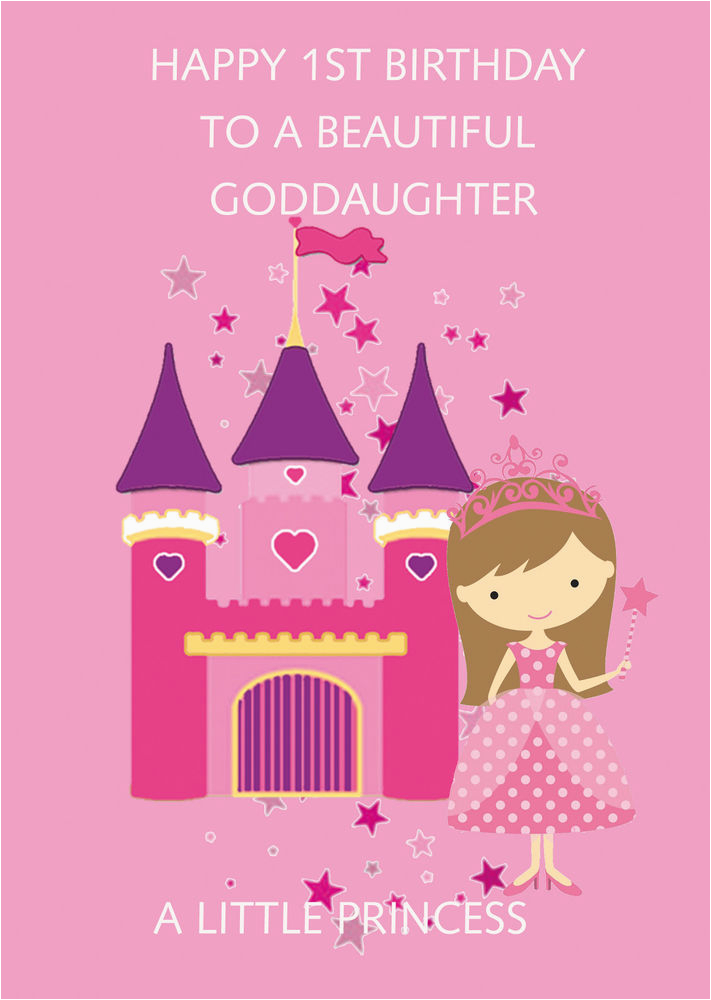 Goddaughter First Birthday Card Goddaughter 1st Birthday Card Ebay