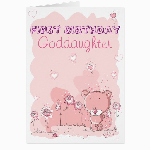 goddaughter first 1st birthday from godparent card 137407803380437852