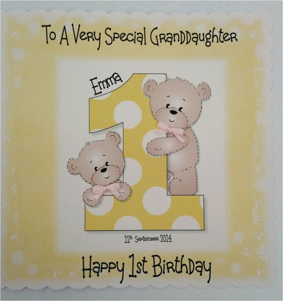 goddaughter first birthday card