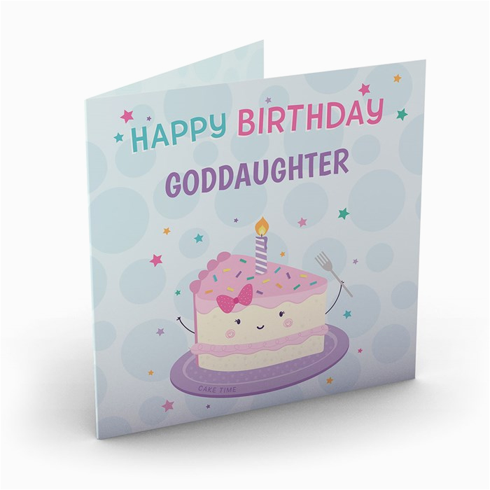 Goddaughter First Birthday Card Personalised Birthday Card Birthday Cake Goddaughter