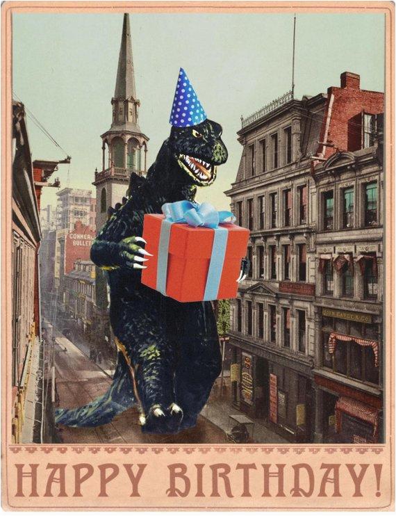 birthday card b movie poster birthday