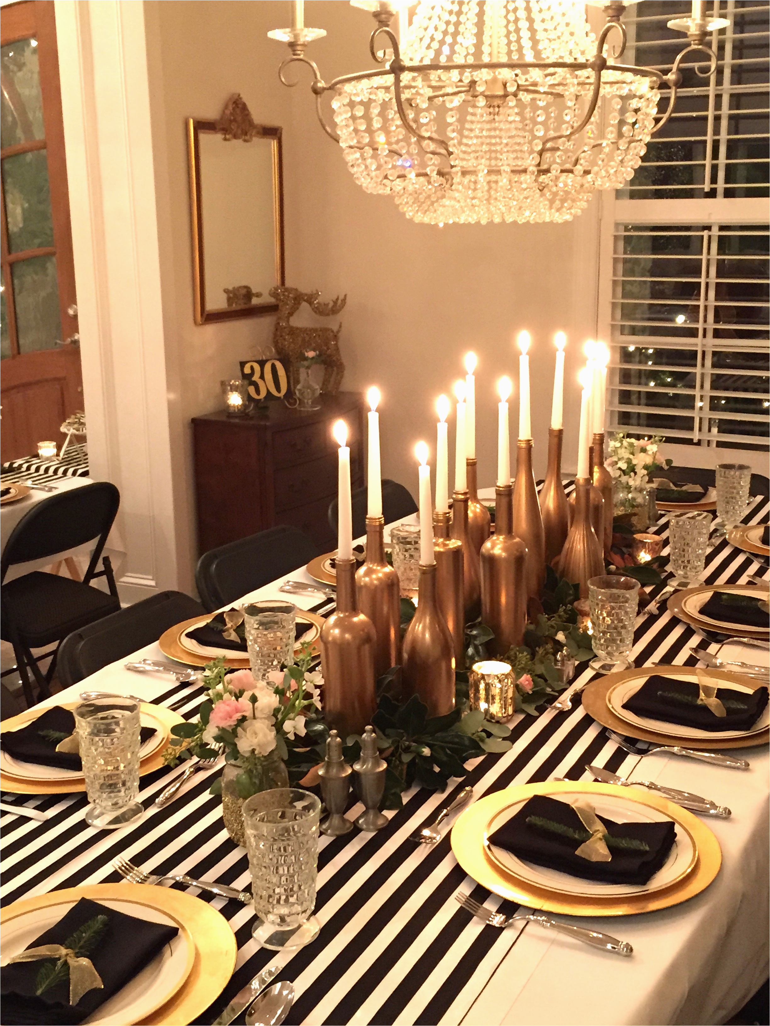 Gold Birthday Party Decorations Black And White My 30th Dinner