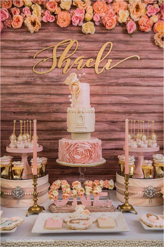 Gold Birthday Party Decorations Kara 39 S Ideas Pink 1st