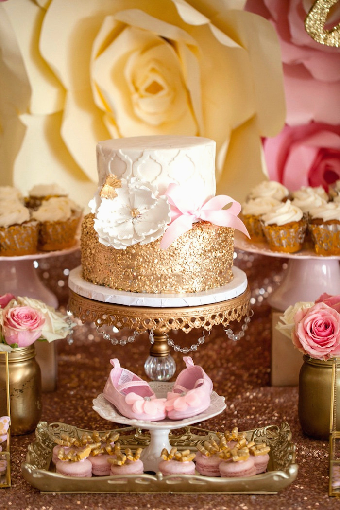 Gold Birthday Party Decorations Kara 39 S Ideas Pink Butterfly Baby Shower