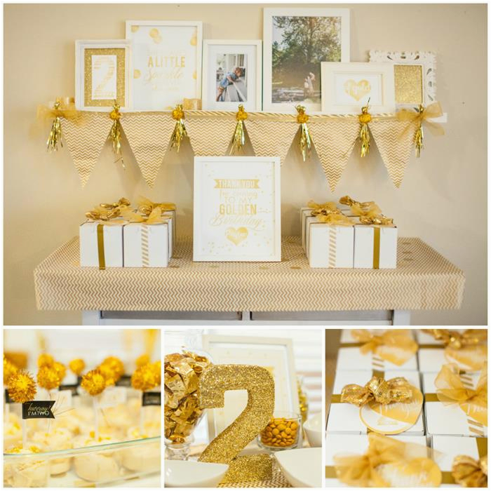 sparkle shine golden birthday party