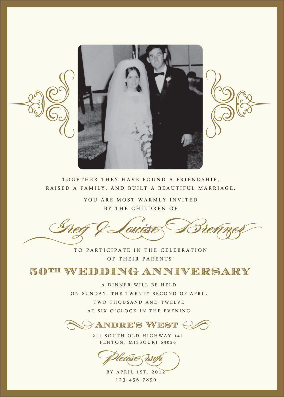 Golden Birthday Invitation Wording Wedding Anniversary