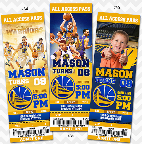 16933830 golden state warriors invitation steph curry invitation
