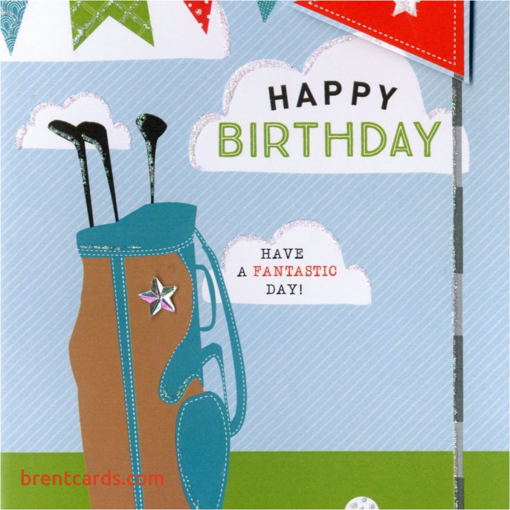 free printable golf birthday cards