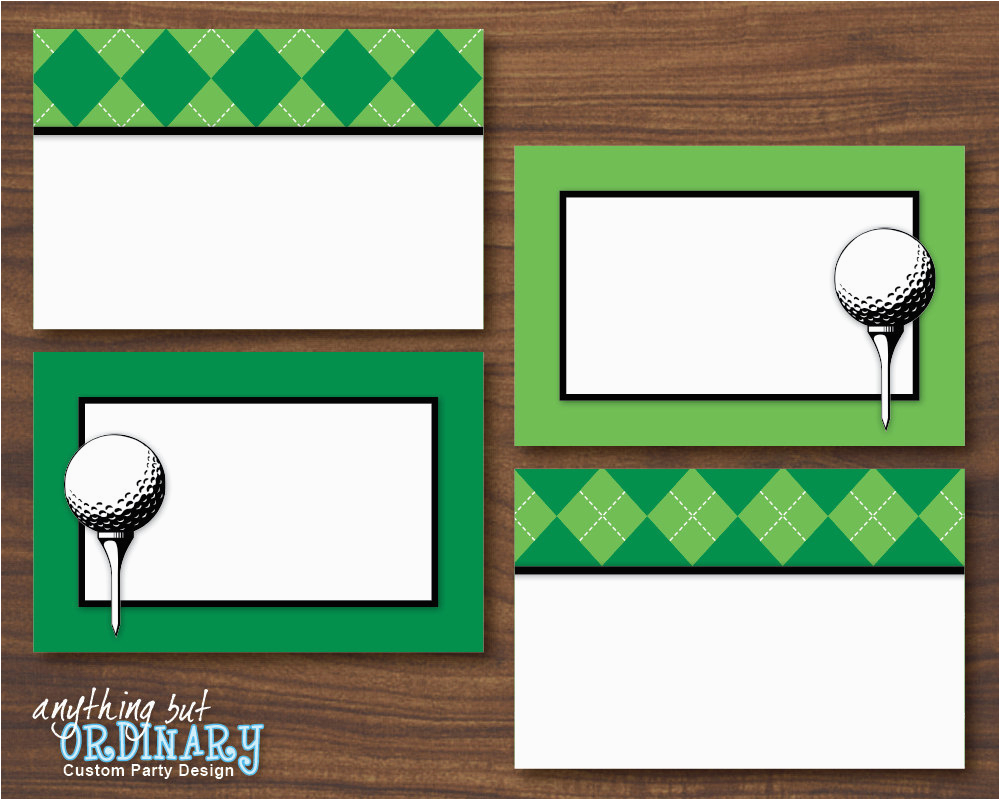 Golf Birthday Cards Free Printable Party Buffet Editable Partee Food