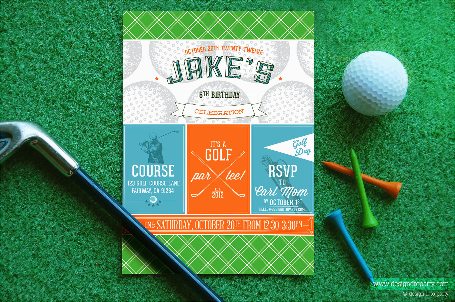 Golf Themed Birthday Invitations Free Printable