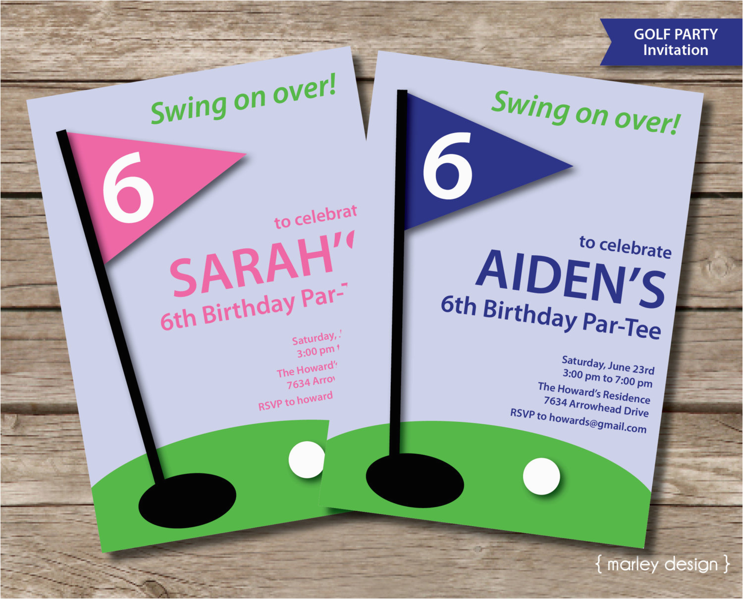 Golf Themed Birthday Invitations Invitation Printable Party