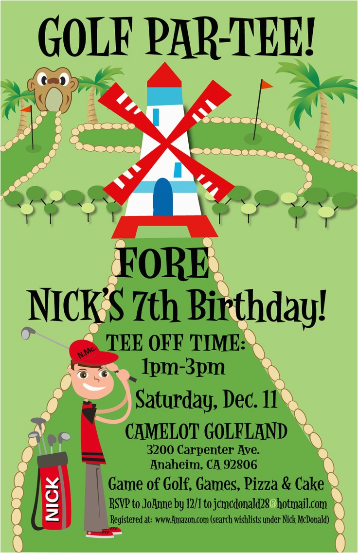 Golf Themed Birthday Invitations Ideas Bagvania Free