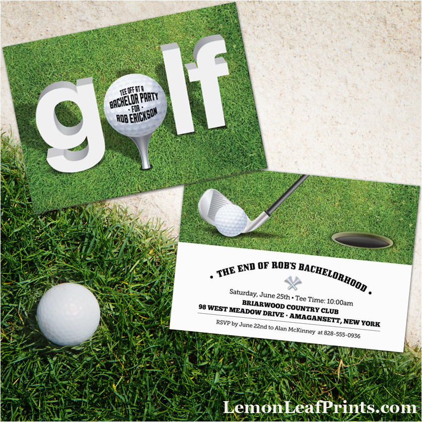 golf themed party invitations