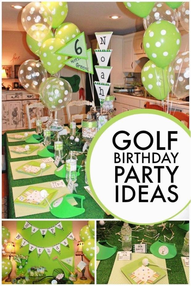 Golf Themed 6th Birthday Boy Party