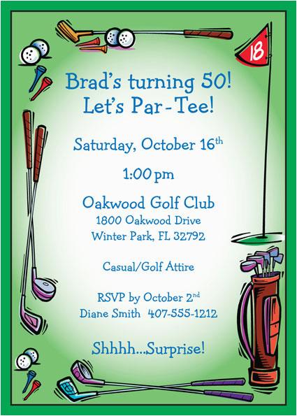 golf party invitation 437104