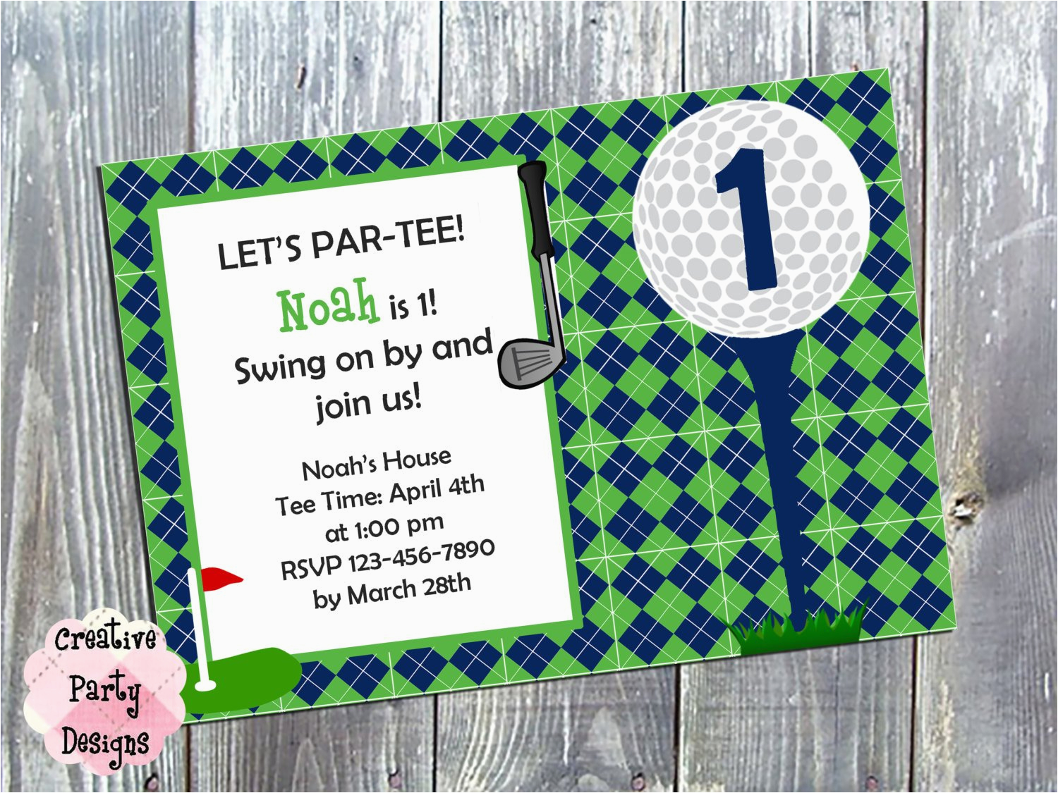 Golf Themed Birthday Party Invitations Kitchen Dining