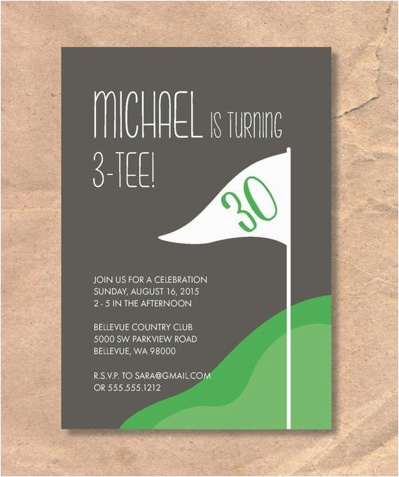 Golf Themed Birthday Party Invitations Printable Invitation