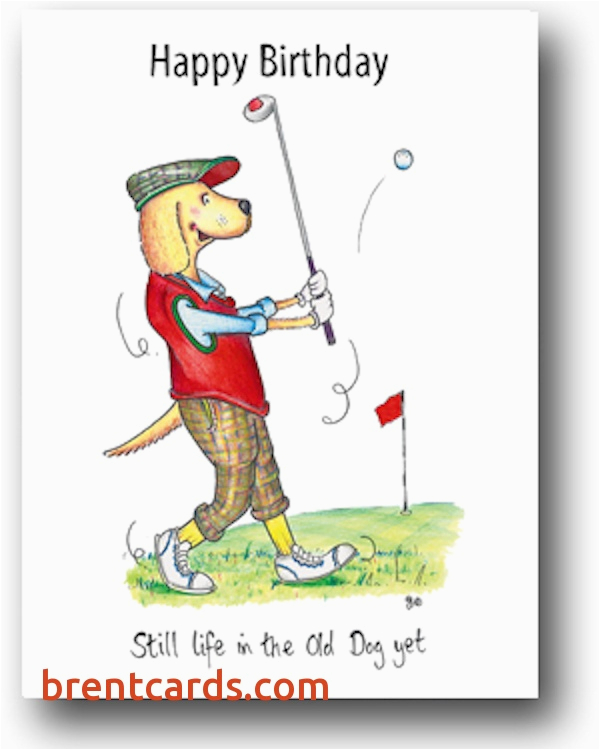 free printable golf birthday cards