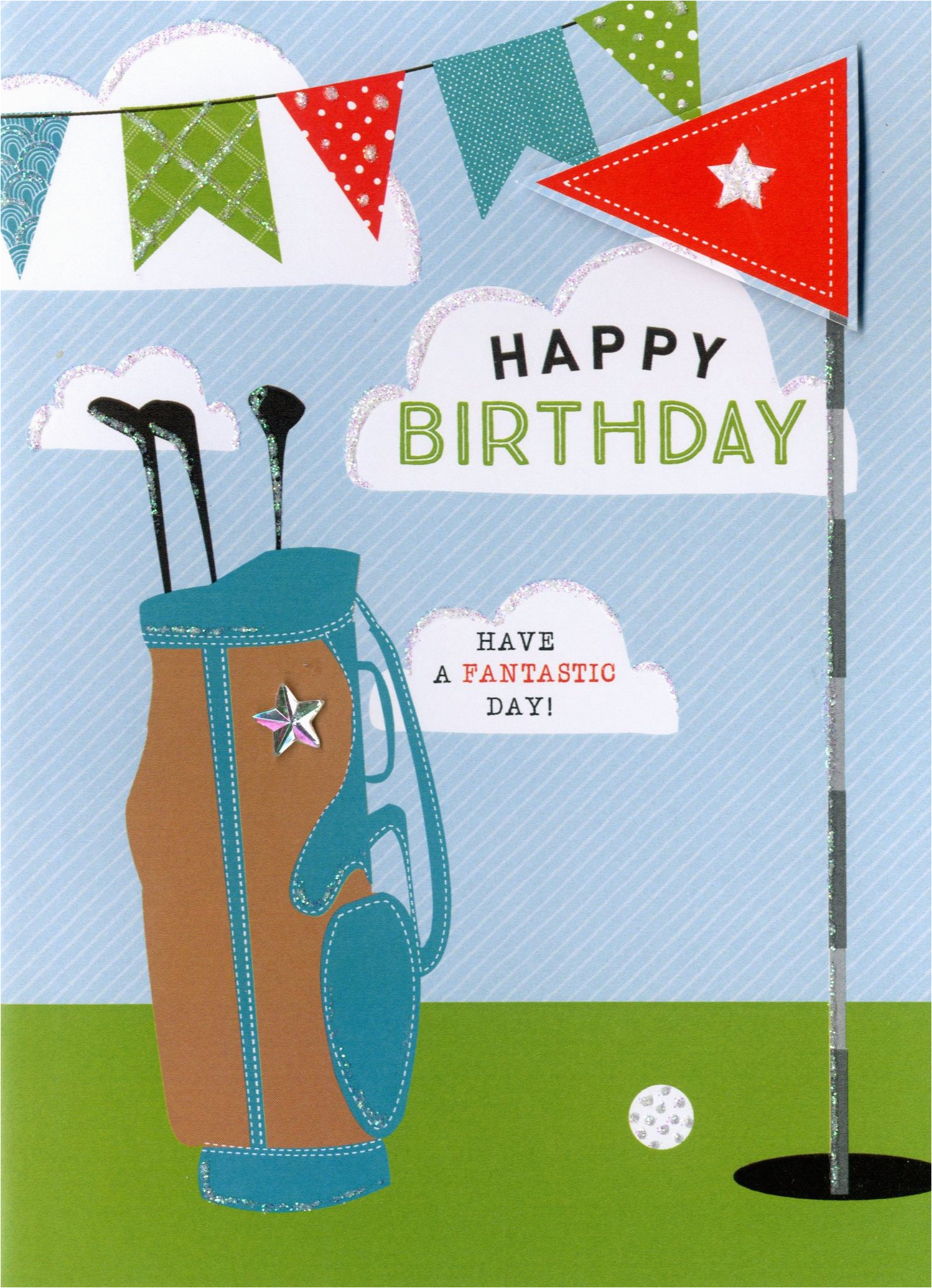 kcsnyt355 happy birthday golf greeting card second nature yours truly cards