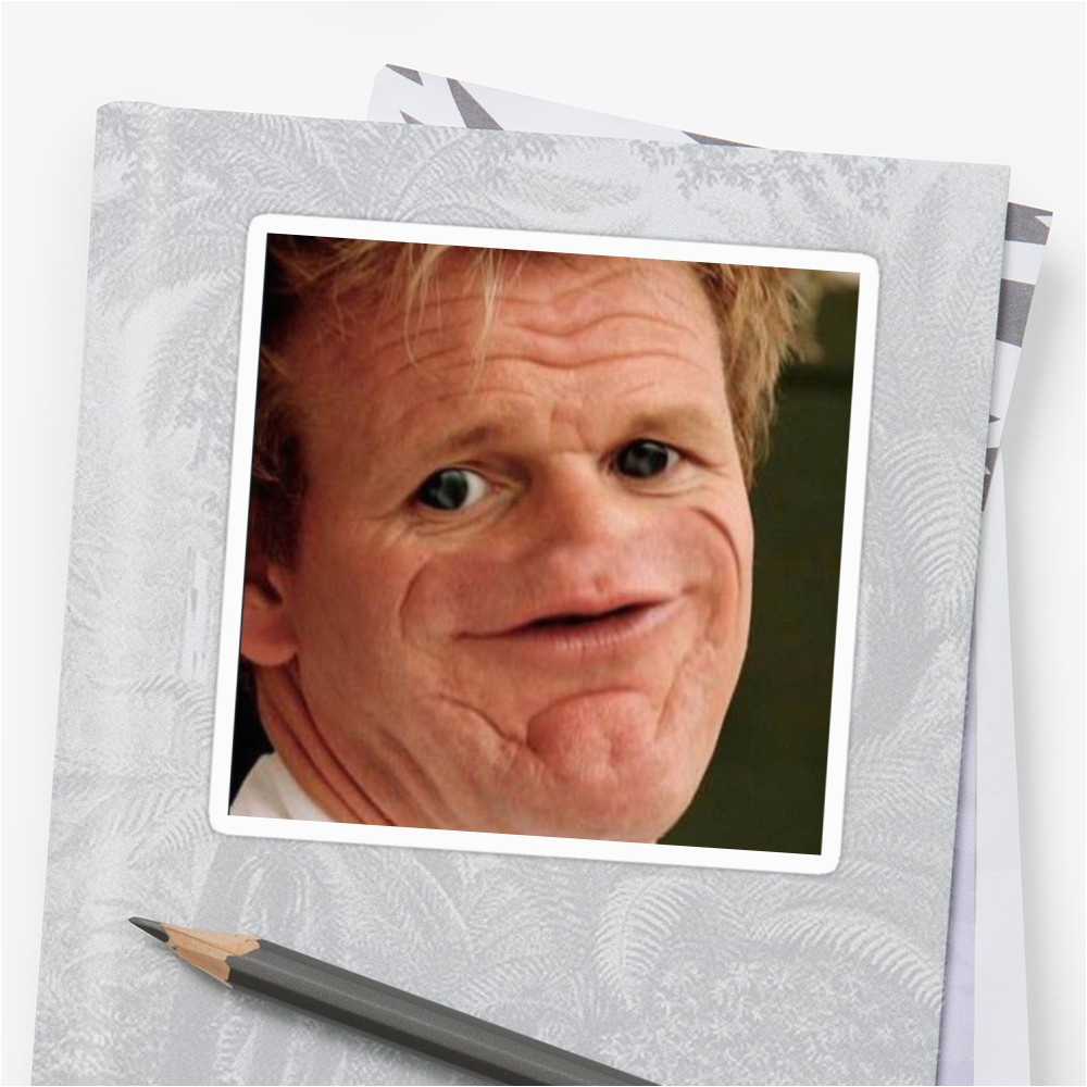 quot gordon ramsay quot stickers by balzac redbubble