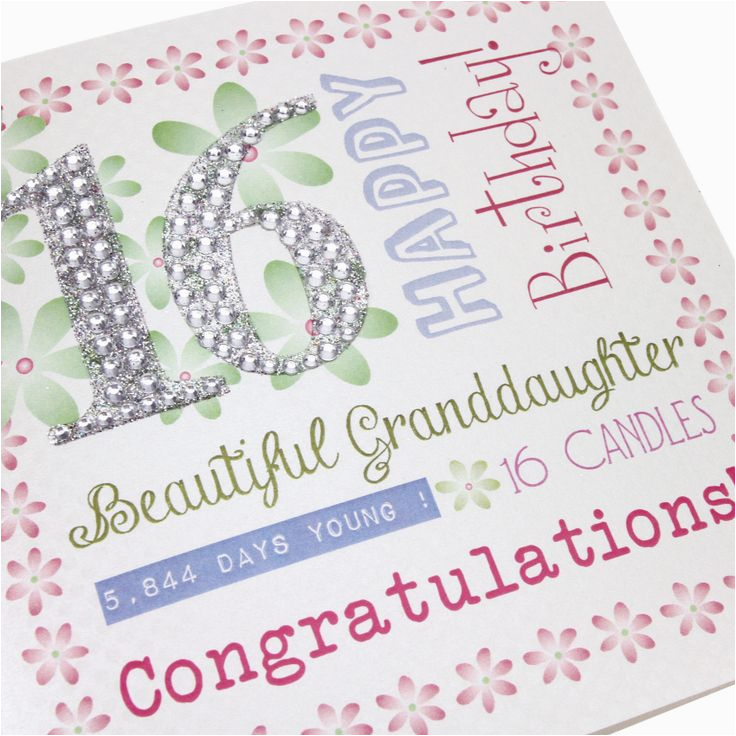 16th birthday greetings granddaughter