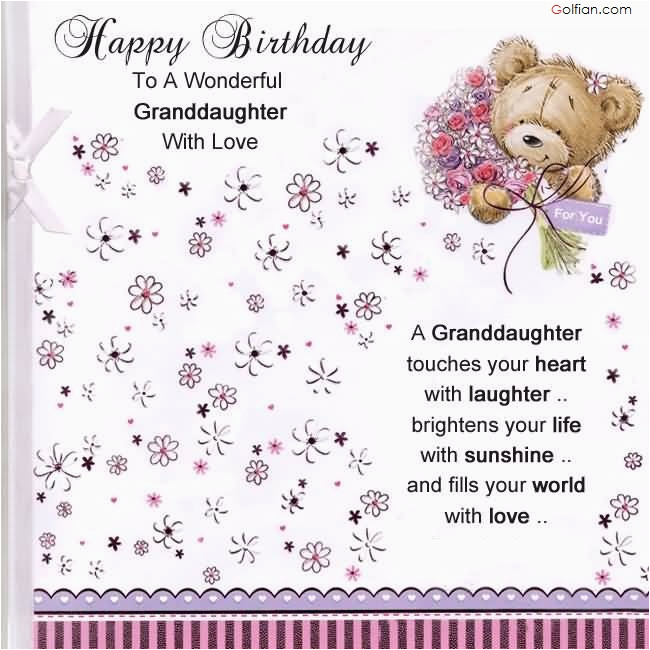 Granddaughter 1st Birthday Card Verses 65 Popular Wishes For Beautiful