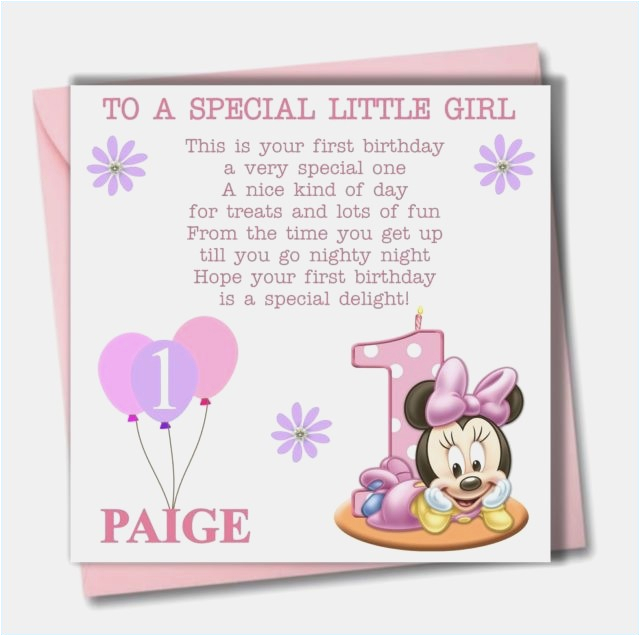Granddaughter 1st Birthday Card Verses