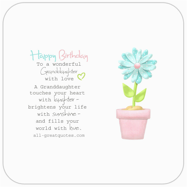Granddaughter 1st Birthday Card Verses Happy Poems Wishes