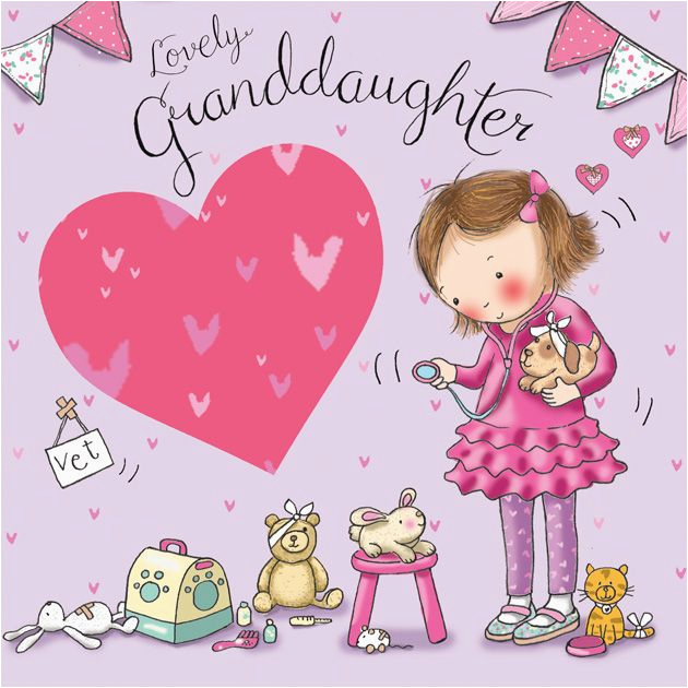 granddaughter birthday card dressing up tw642 4210 p